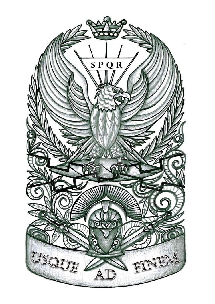 Roman eagle tattoo design idea by thehoundofulster for Roman tattoo ideas