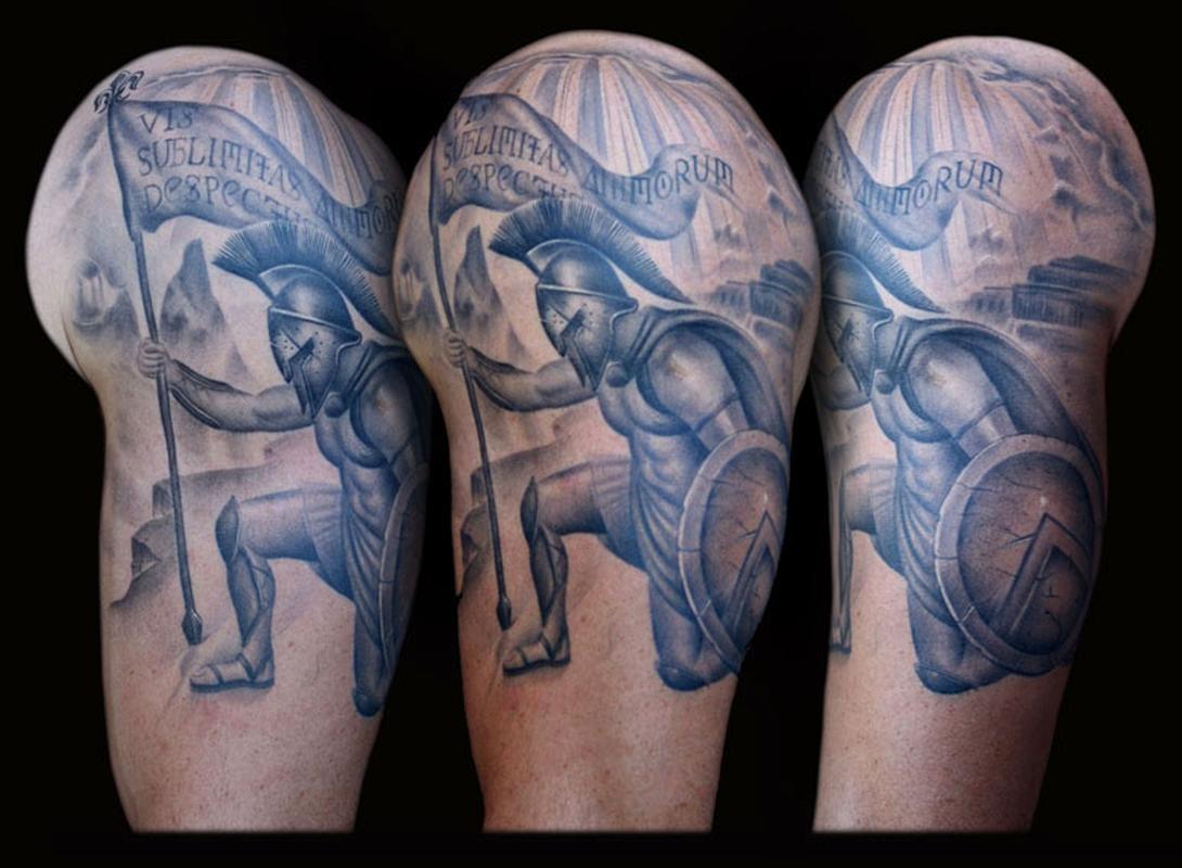 f155489224415 Spartan Tattoo Design By Francisco Sanchez