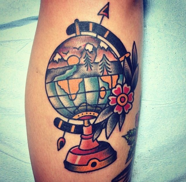 90 Incredible Globe Tattoo Designs Ideas With Meanings