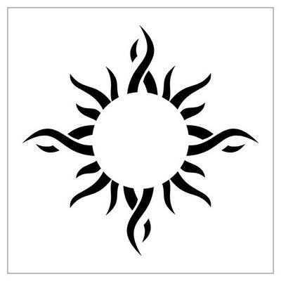 46 most amazing tribal sun tattoo designs patterns. Black Bedroom Furniture Sets. Home Design Ideas
