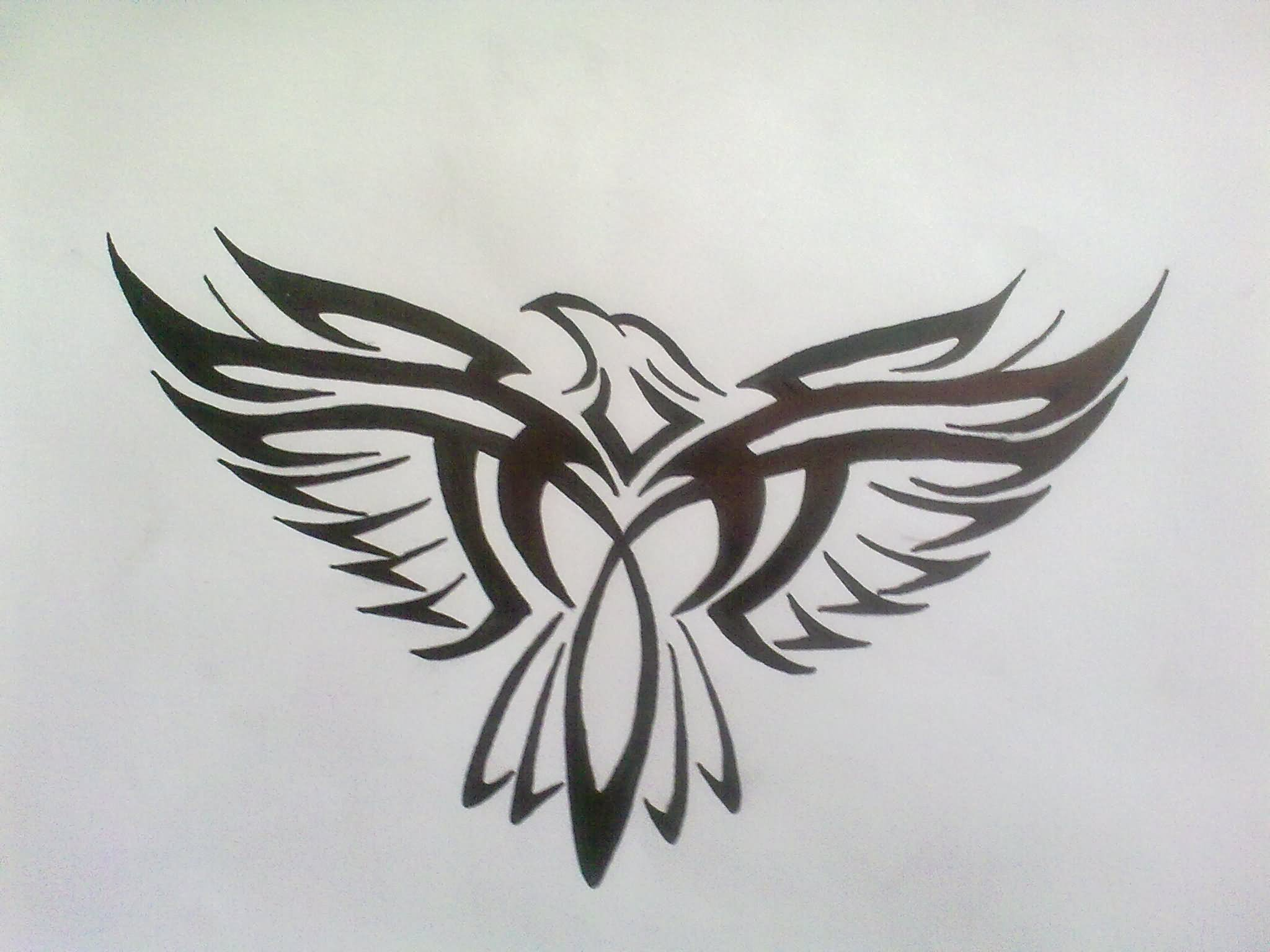 52+ Amazing Tribal Eagle Tattoos & Designs With Meanings