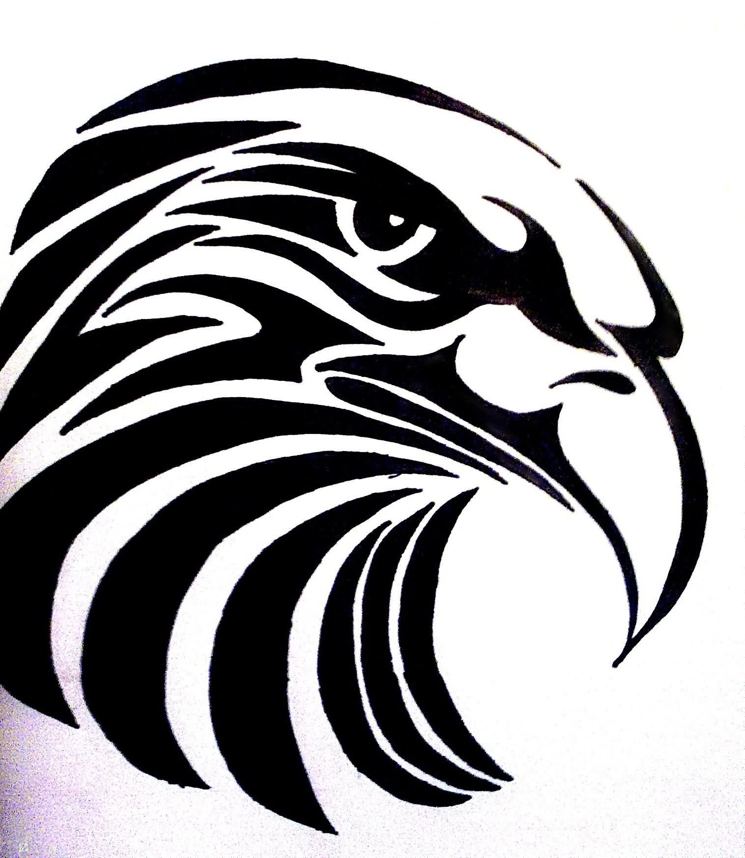 Tribal eagle tattoo stencil by Bogi90
