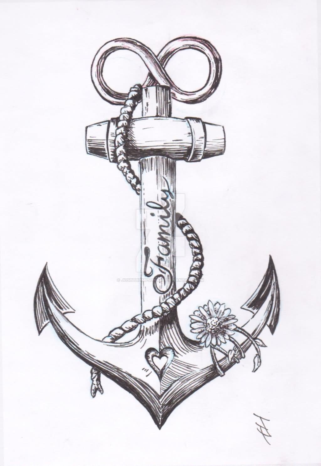 Anchor Tattoo Design By Joshthompsonart