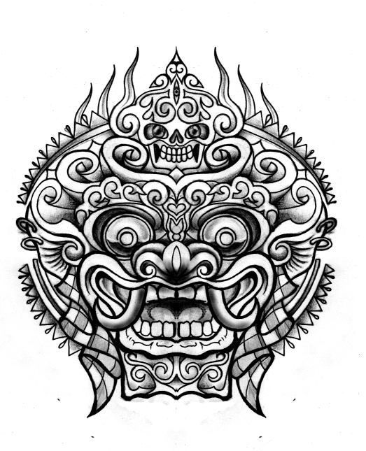 Pics Photos Balinese Barong Mask Tattoo Tattoos Tribal