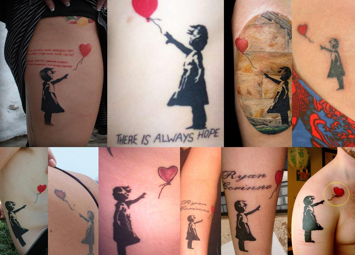 187e9331a Banksy Balloon Girl Tattoo Design Ideas For Girls. Banksy Girl Blowing Head  Tattoo On Rib Cage