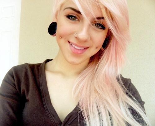 Beautiful Cheek Piercings With Studs