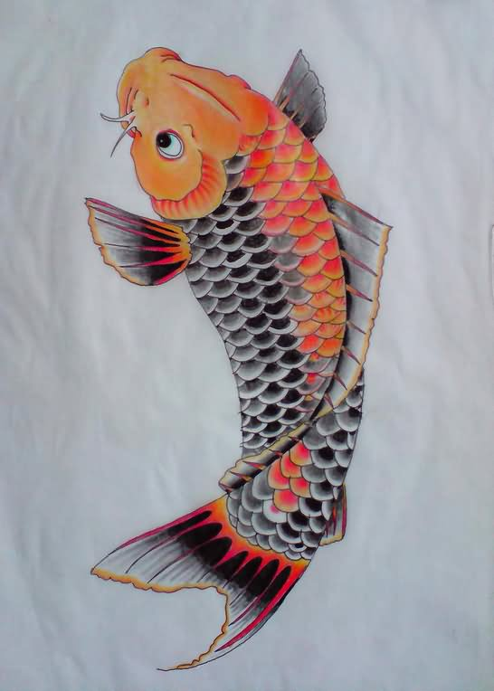 30 koi fish tattoo designs with meanings for Beautiful koi fish