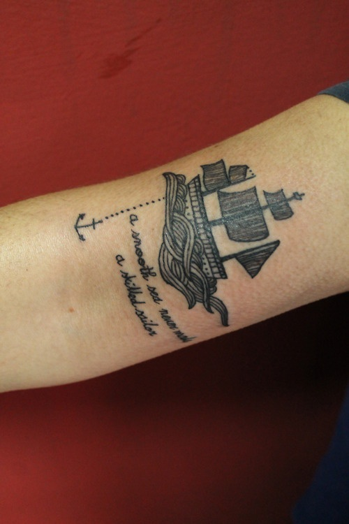d28c2eab6 14 Cool Boat Tattoo Designs And Images