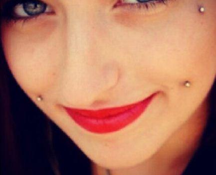Cute Cheek Piercing Picture