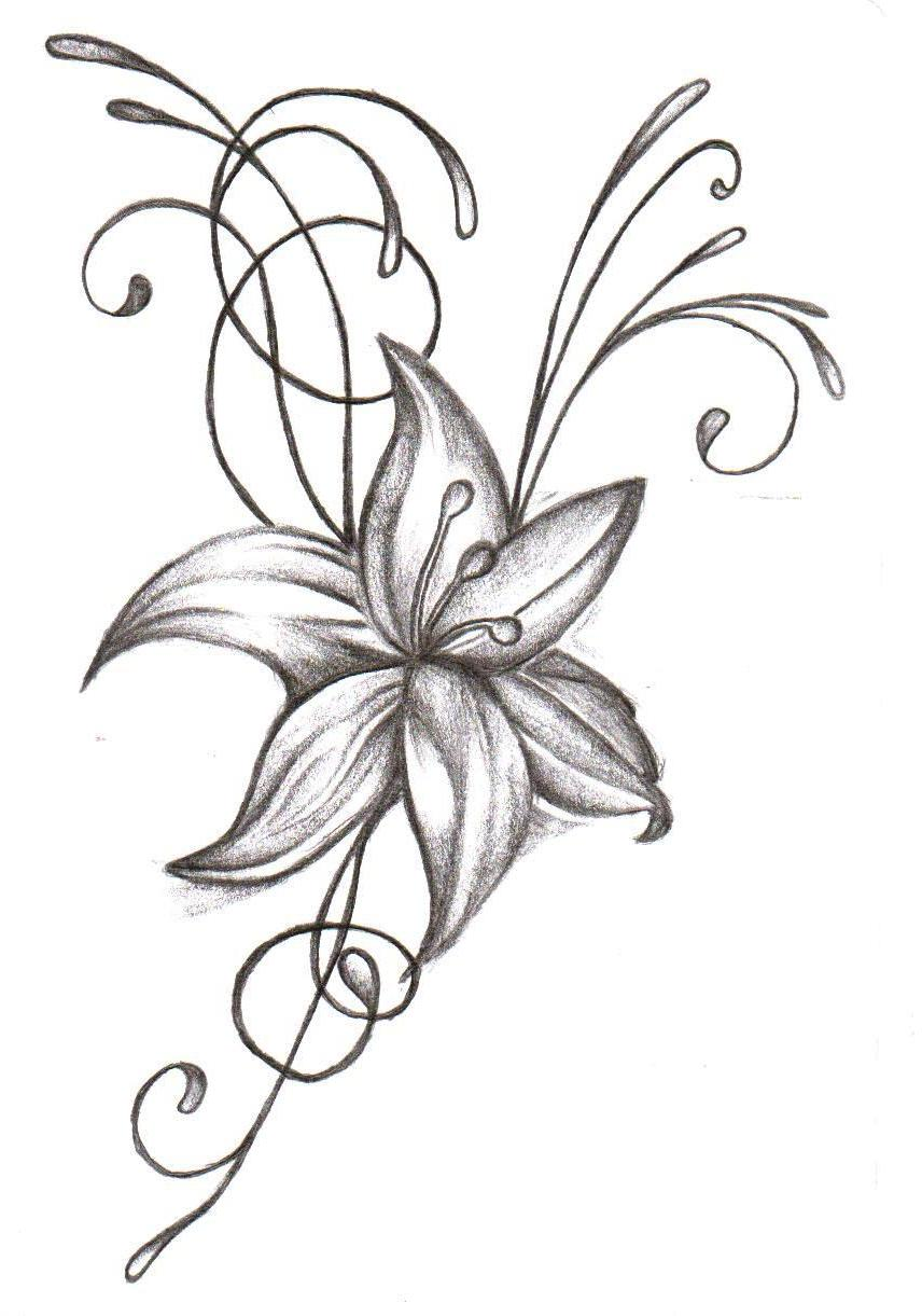 Flower Tattoo Stencil