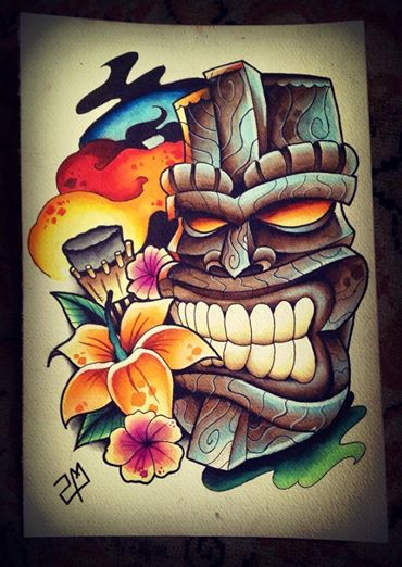 12+ Cool Tiki Tattoo Designs And Ideas