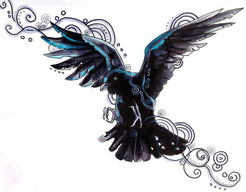 Celtic Raven Tattoo Design