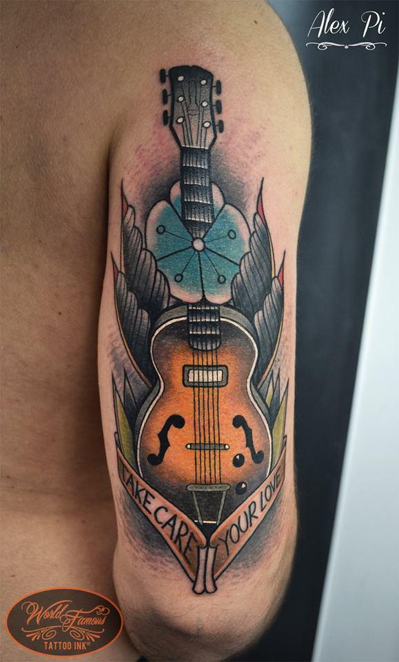 Guitar Tattoos Askideas Com