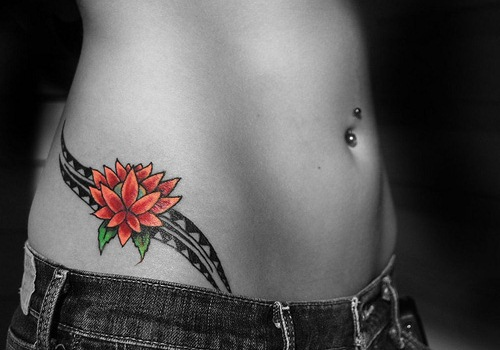 Flower Tattoo Designs Hip: 39+ Beautiful Feather Hip Tattoos