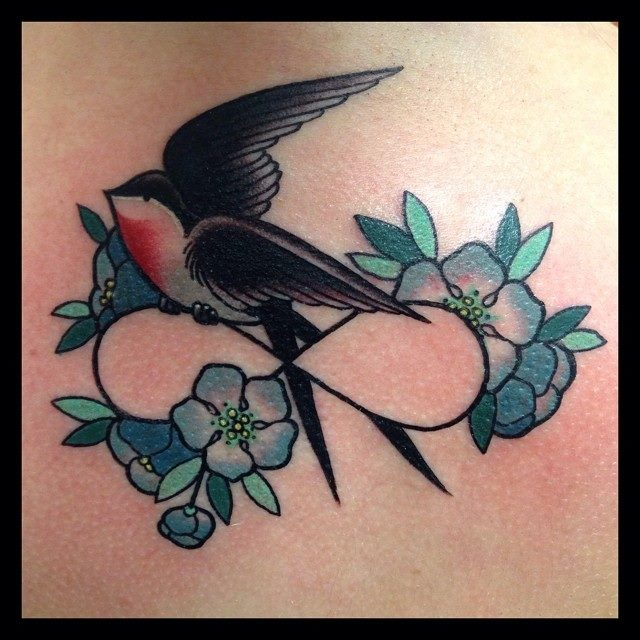 Infinity Symbol Bird Tattoo By Lauren Gow
