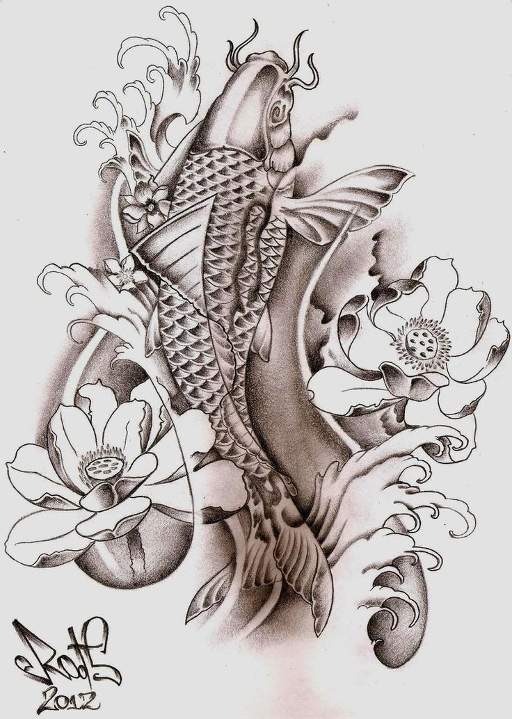 30 koi fish tattoo designs with meanings. Black Bedroom Furniture Sets. Home Design Ideas