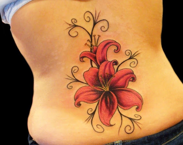 47 abstract flower tattoos. Black Bedroom Furniture Sets. Home Design Ideas