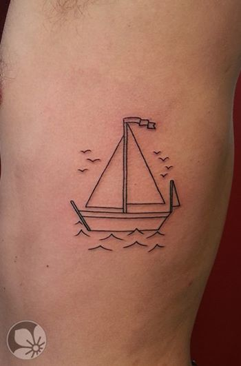 Simple Sail Tattoo Designs