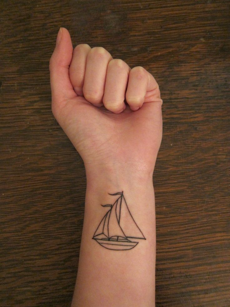 11 sailboat tattoo designs for men and women rh askideas com Simple Boat Tattoo Designs Simple Ship Tattoo