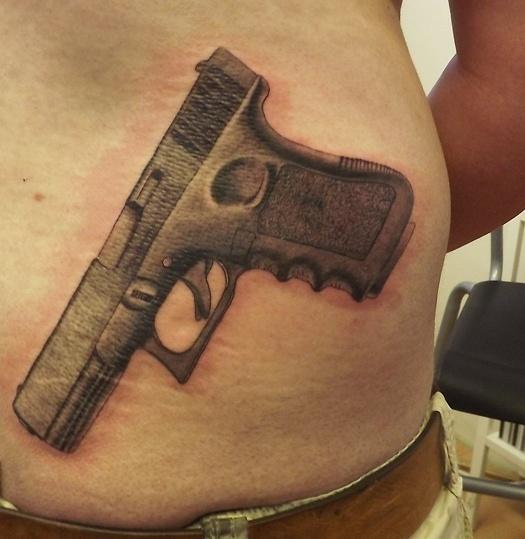 pistol tattoos. Black Bedroom Furniture Sets. Home Design Ideas