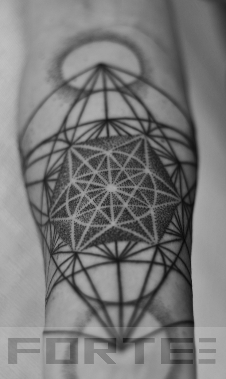 sacred geometry metatrons cube tattoo on forearm. Black Bedroom Furniture Sets. Home Design Ideas