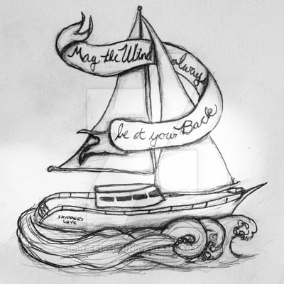 Sailboat Tattoo Design Idea By Bluefishrun