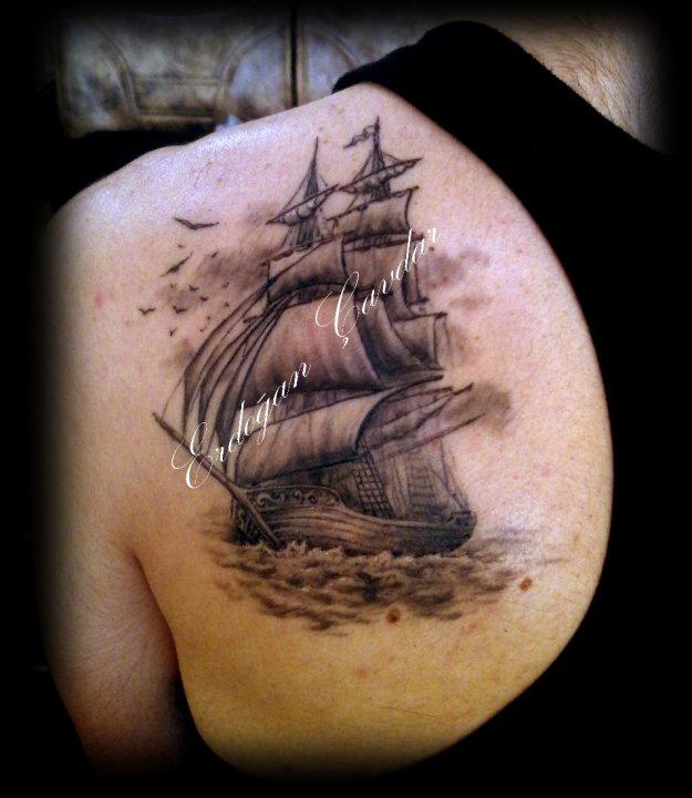 Sailboat Tattoo Design by Erdogan Cavdar