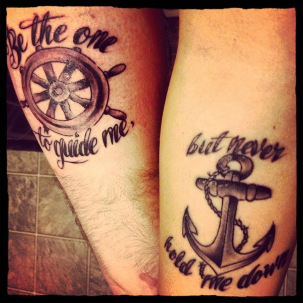 Couple tattoos for Anchor tattoos for couples