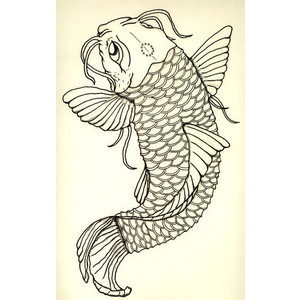 30 koi fish tattoo designs with meanings for Koi fish stencil