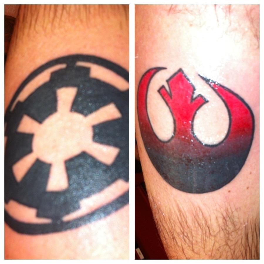 empire vs rebel alliance tattoo by johnny von peso