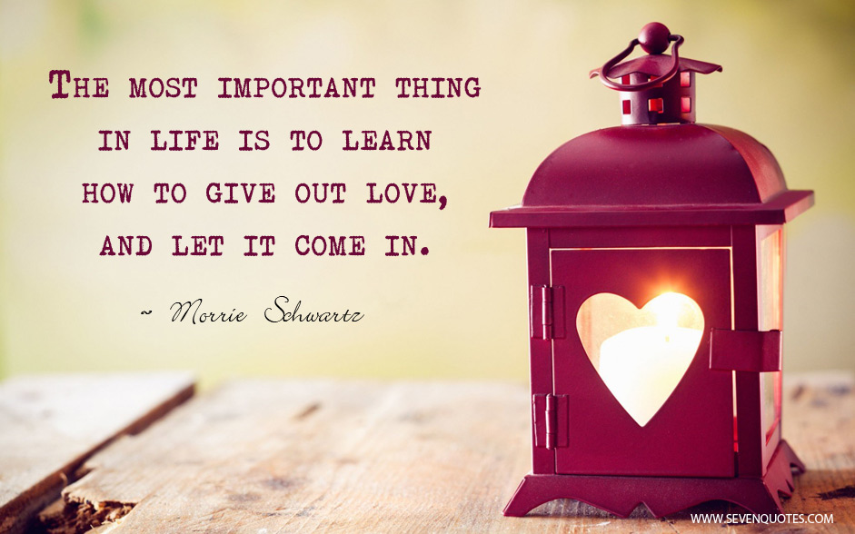 love is the most important thing in life The most important thing in life by rodney w francis if i was to ask you the question: what is the most important thing for a christian to know, believe and experience in this life, what would your answer be.