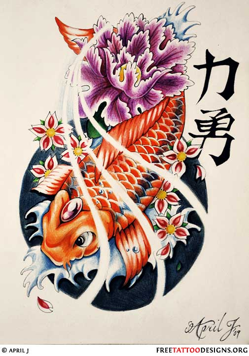 30 koi fish tattoo designs with meanings for Purple koi fish