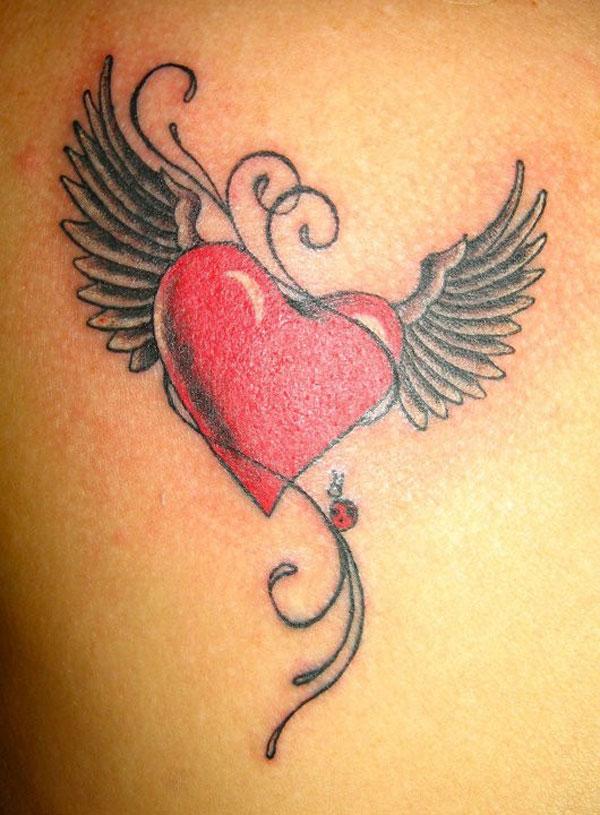 Wings Heart Tattoo Image