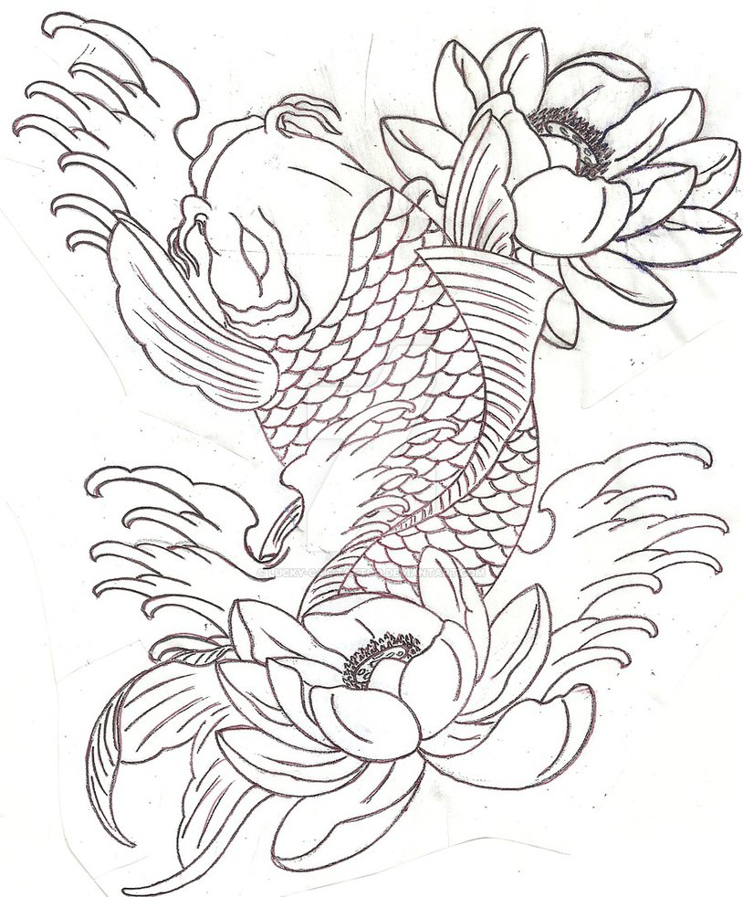 30 koi fish tattoo designs with meanings yukis koi half sleeve linework tattoo design by lucky cat tattoo izmirmasajfo