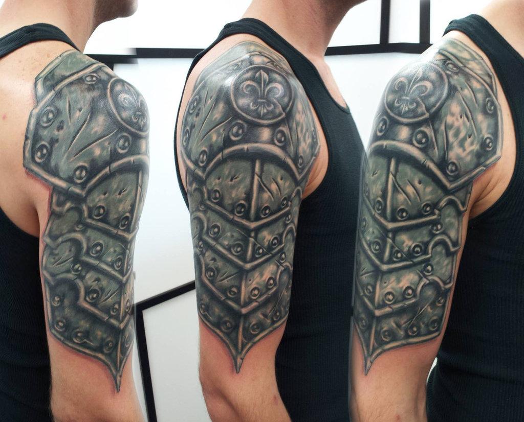 e53d2ddc6a256 Templar Knight Helmet Tattoo - VAST