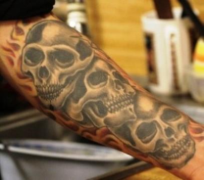 10 wonderful skull tattoos on forearm. Black Bedroom Furniture Sets. Home Design Ideas