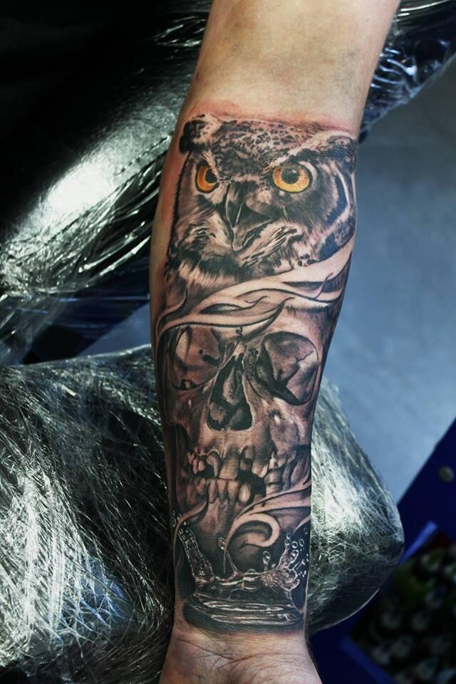 10 Wonderful Skull Tattoos On Forearm