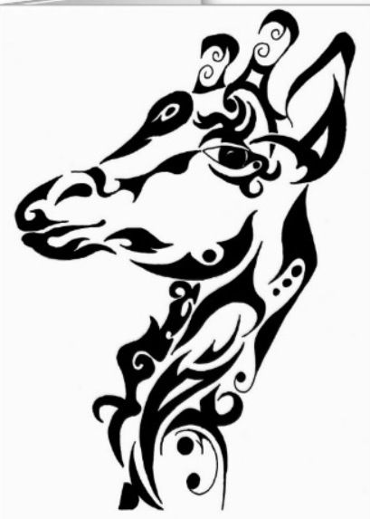 66b305a8c Tribal Giraffe Tattoo Sketch by Andria Beaulieu