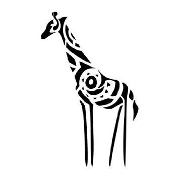 Tribal giraffe tattoo - photo#18