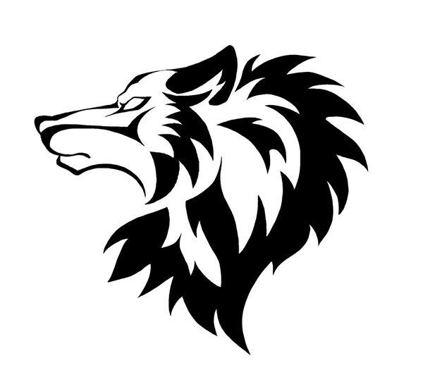 Tribal Wolf Head Tattoo Design By Wakosaki