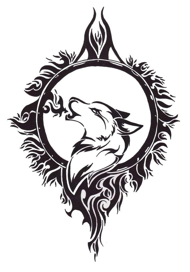 be1105b8a8770 Wonderful Tribal Wolf Tattoo Design