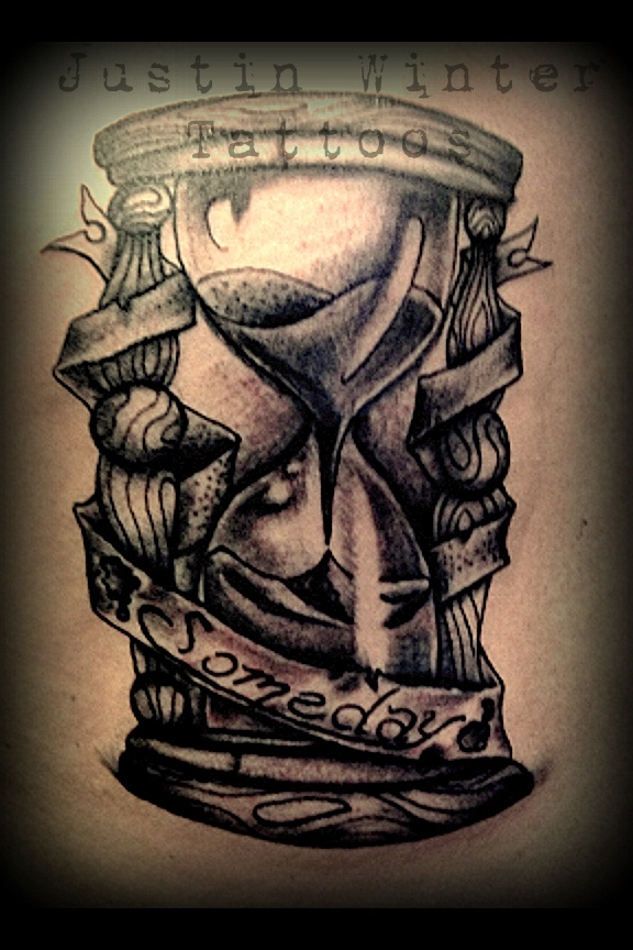 Sand clock tattoo designs  29 Latest Hourglass Tattoo Images, Designs And Pictures