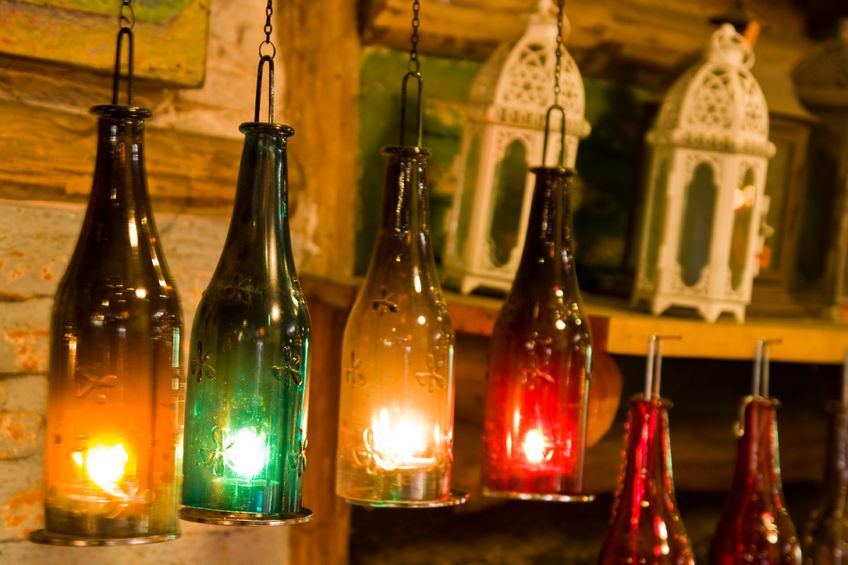 Ideas For Diwali Decoration At Home Part - 17: Beautiful Hanging Electric Lamps For Diwali Decoration At Home