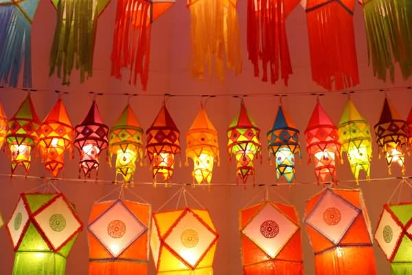 Beautiful Hanging Lighting Lanterns Diwali Decoration