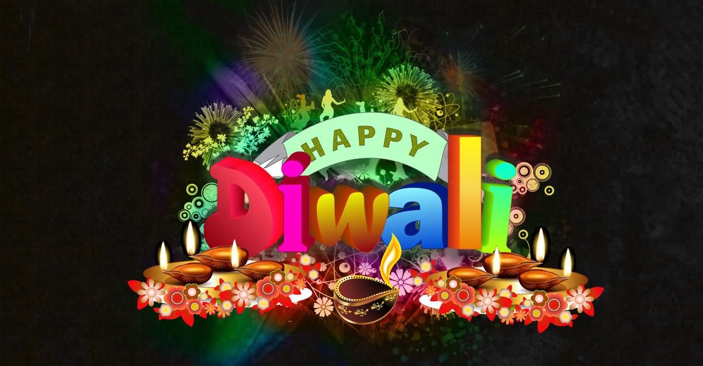Beautiful Happy Diwali Wishes E Card