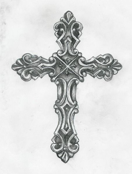 black and grey cross tattoo design by birdofflame. Black Bedroom Furniture Sets. Home Design Ideas
