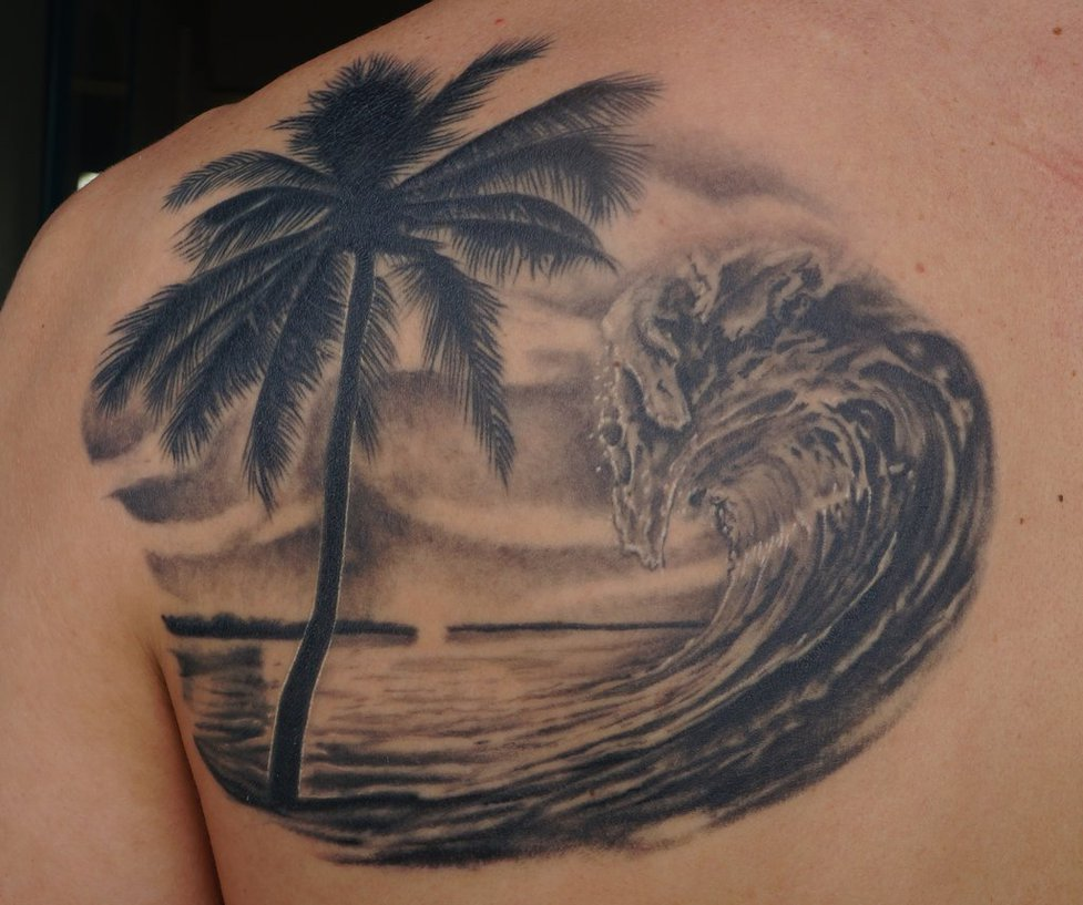 10 Most Beautiful Beach Tattoo Designs And Images