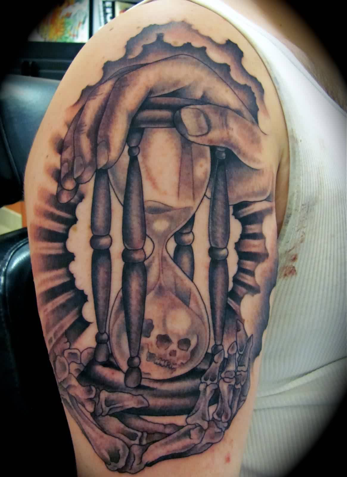 56 best Capone's Black and Gray Tattoos images on ...   Black And Grey Skull Tattoo Designs