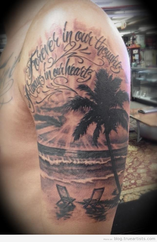 10 most beautiful beach tattoo designs and images. Black Bedroom Furniture Sets. Home Design Ideas