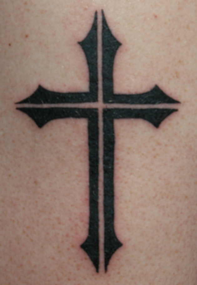 Black Simple Cross Tattoo Design By Notacamouflagesoul